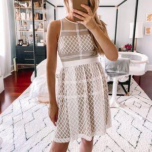 Donna Morgan Mesh Overlay dress